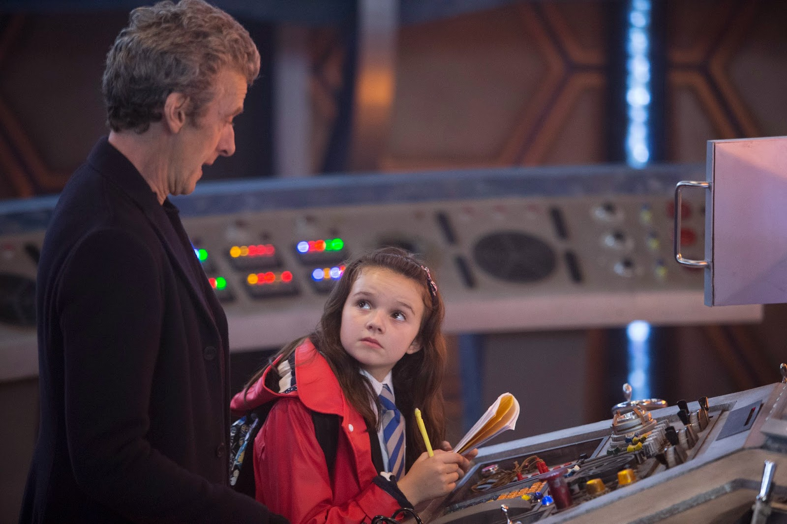 Peter Capaldi as the Doctor and Abigail Eames  as Maebh.
