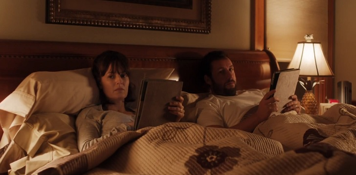Rosemarie DeWitt and Adam Sandler play the unhappy Rachel and Don Truby