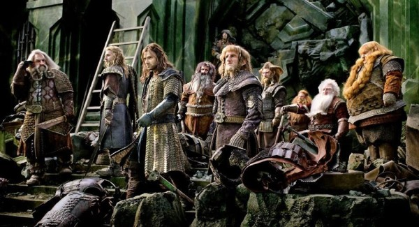 The Company of Dwarves ready for battle in 'The Hobbit: The Battle of the Five Armies'.