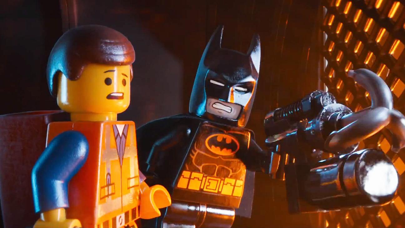 Emmett (voiced by Chris Pratt) and Batman (voiced by Will Arnett) in 'The Lego Movie'