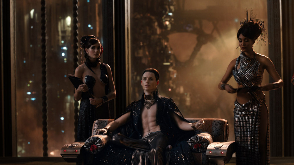Eddie Redmayne as Balem Abrasax, the aristocratic villain of the film