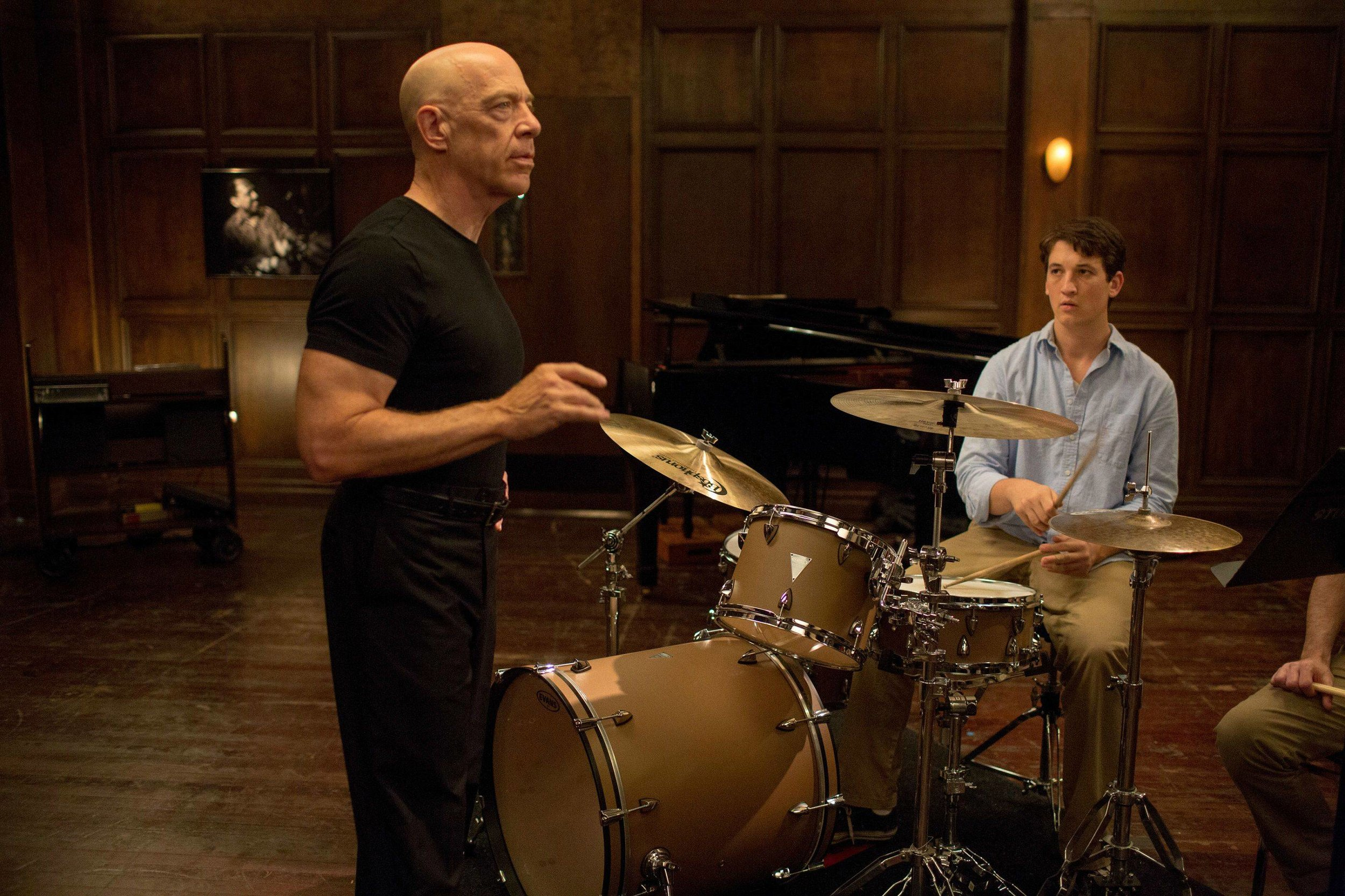 J.K. Simmons and Miles Teller star in 'Whiplash'.