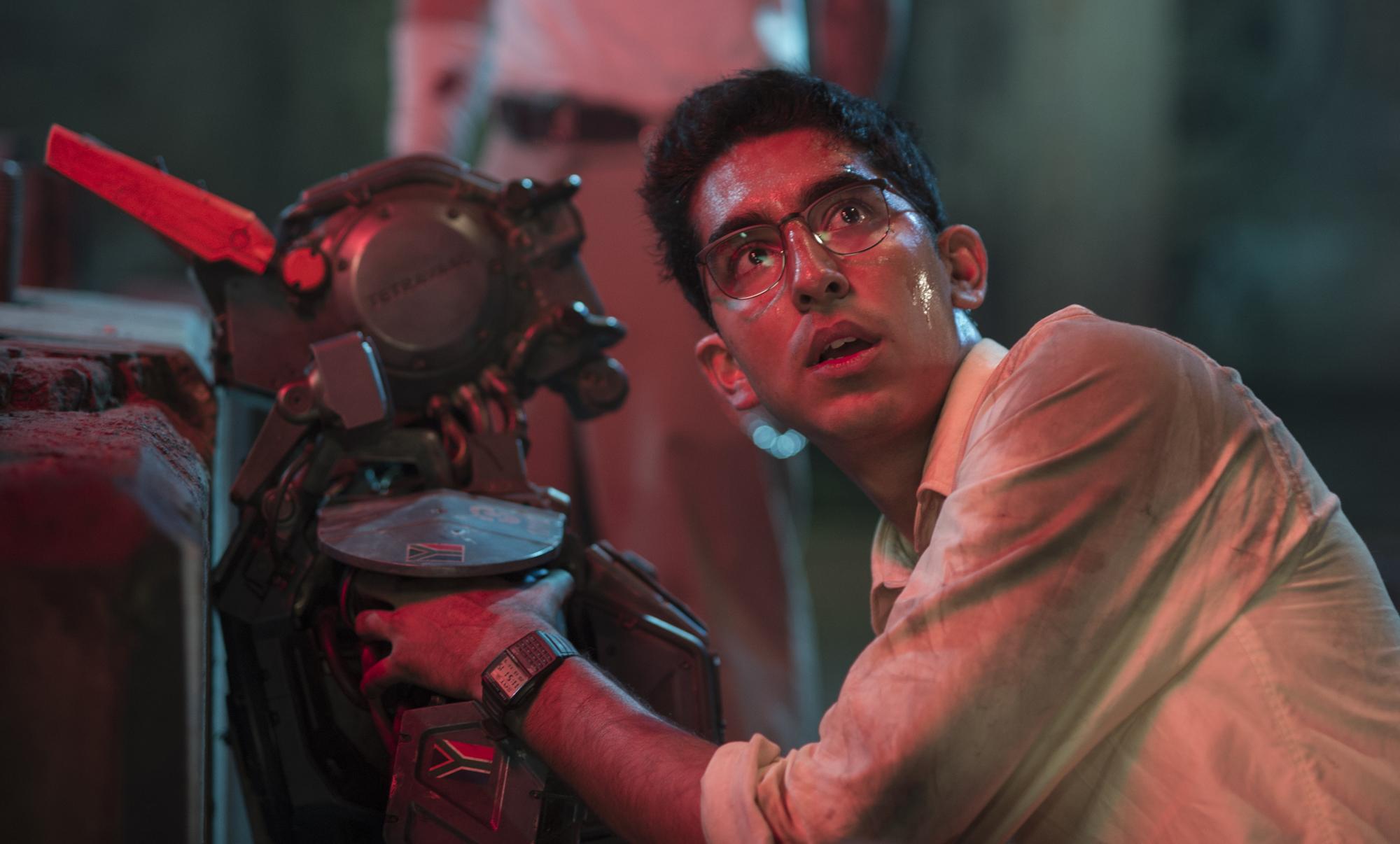 Dev Patel as robotics engineer Deon Wilson in 'Chappie'.