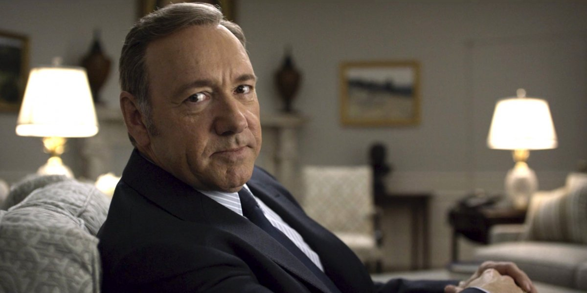 A still from one of Frank Underwood's direct-to-camera soliloquies.