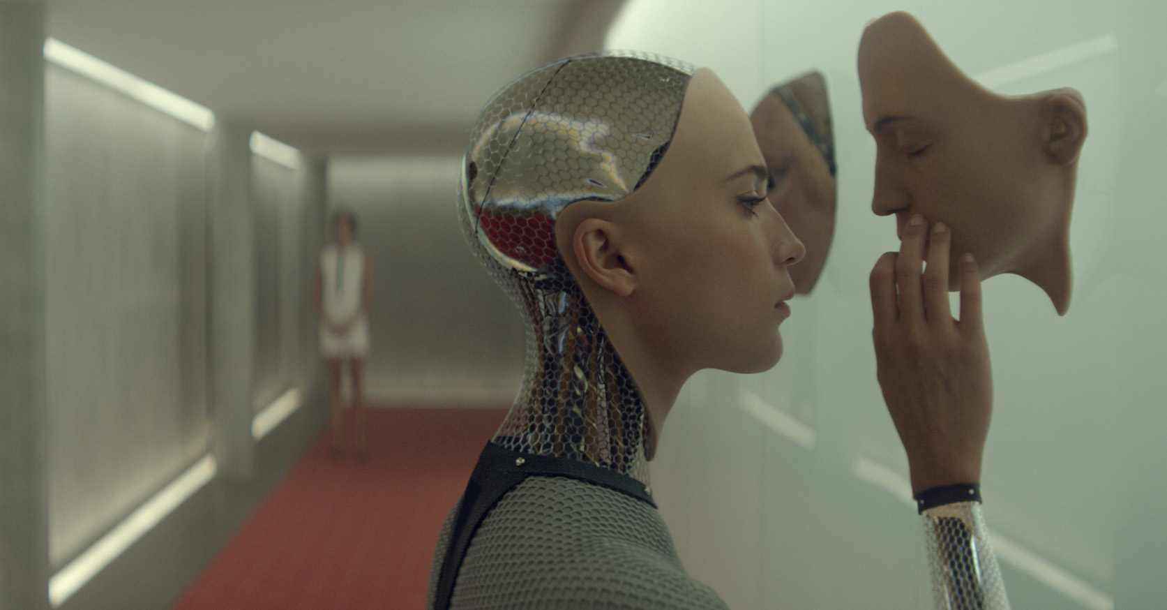 Alicia Vikander as Ava in 'Ex Machina', written and directed by Alex Garland.