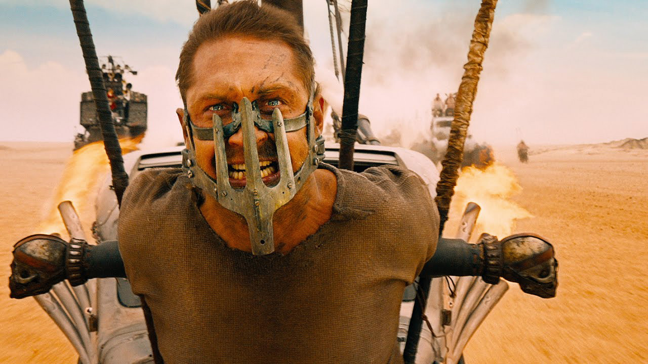 Tom Hardy as Max Rockatansky in 'Mad Max: Fury Road', directed by George Miller.