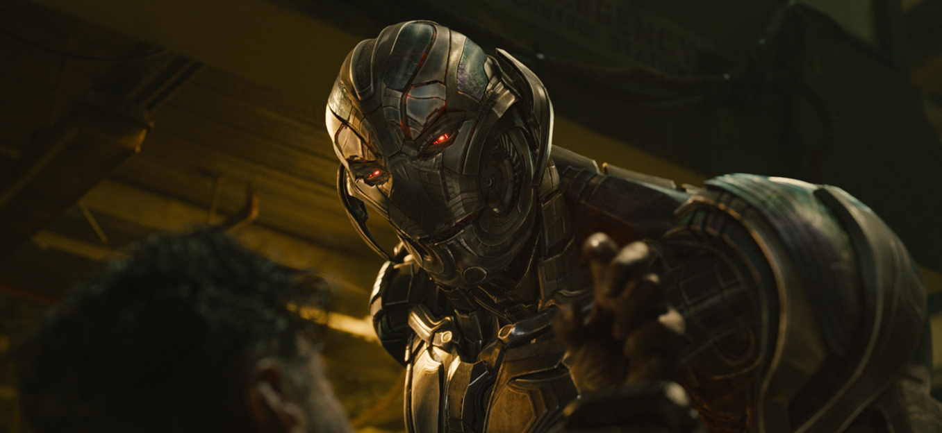 The villainous Ultron (voiced by James Spader) seeks to 'cleanse' the world of the human race.