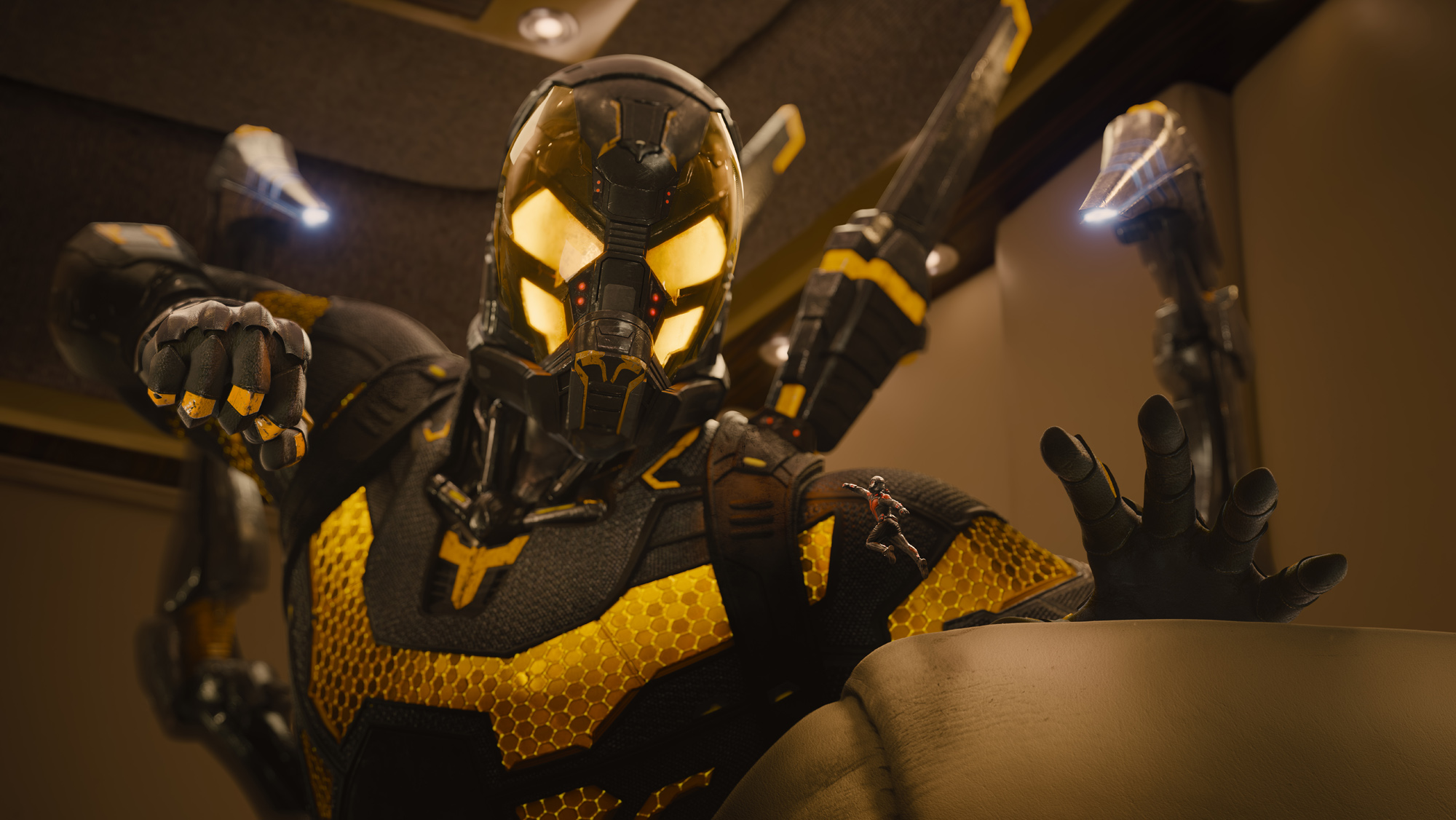 Corey Stoll suits up as the villain Darren Cross/Yellowjacket.