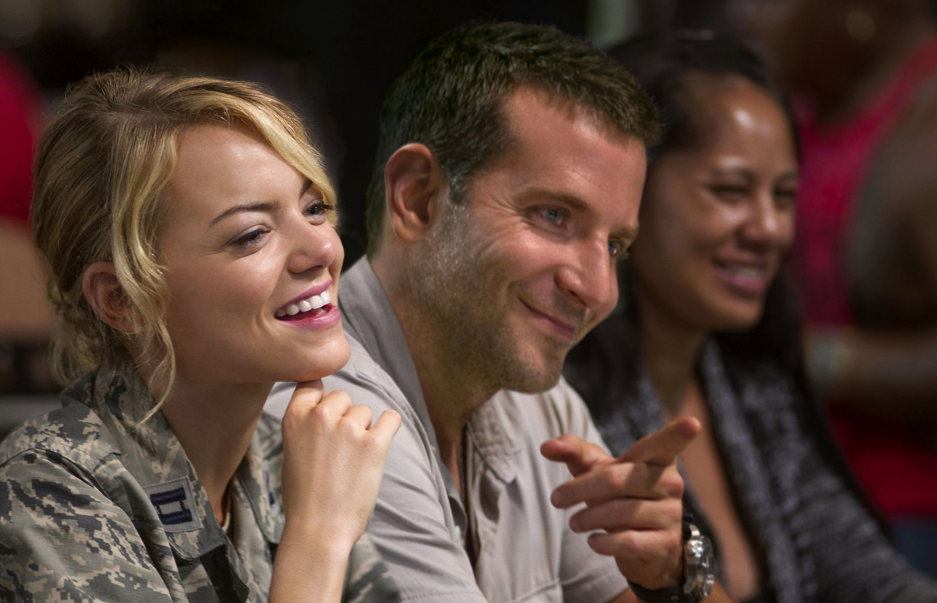 Emma Stone and Bradley Cooper star in 'Aloha'.