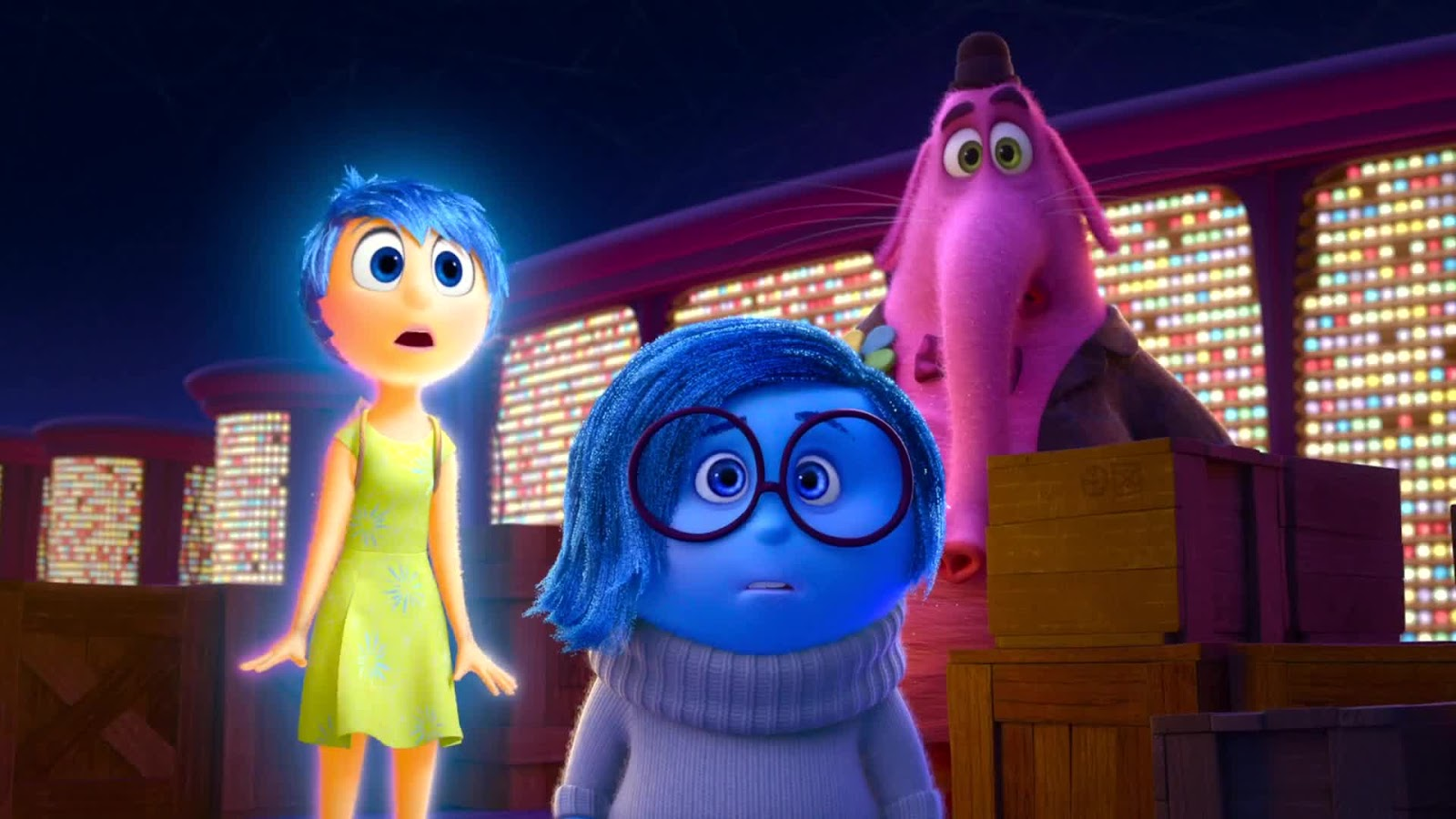 Inside Out features the voices of Amy Poehler, Phyllis Smith and Richard Kind.