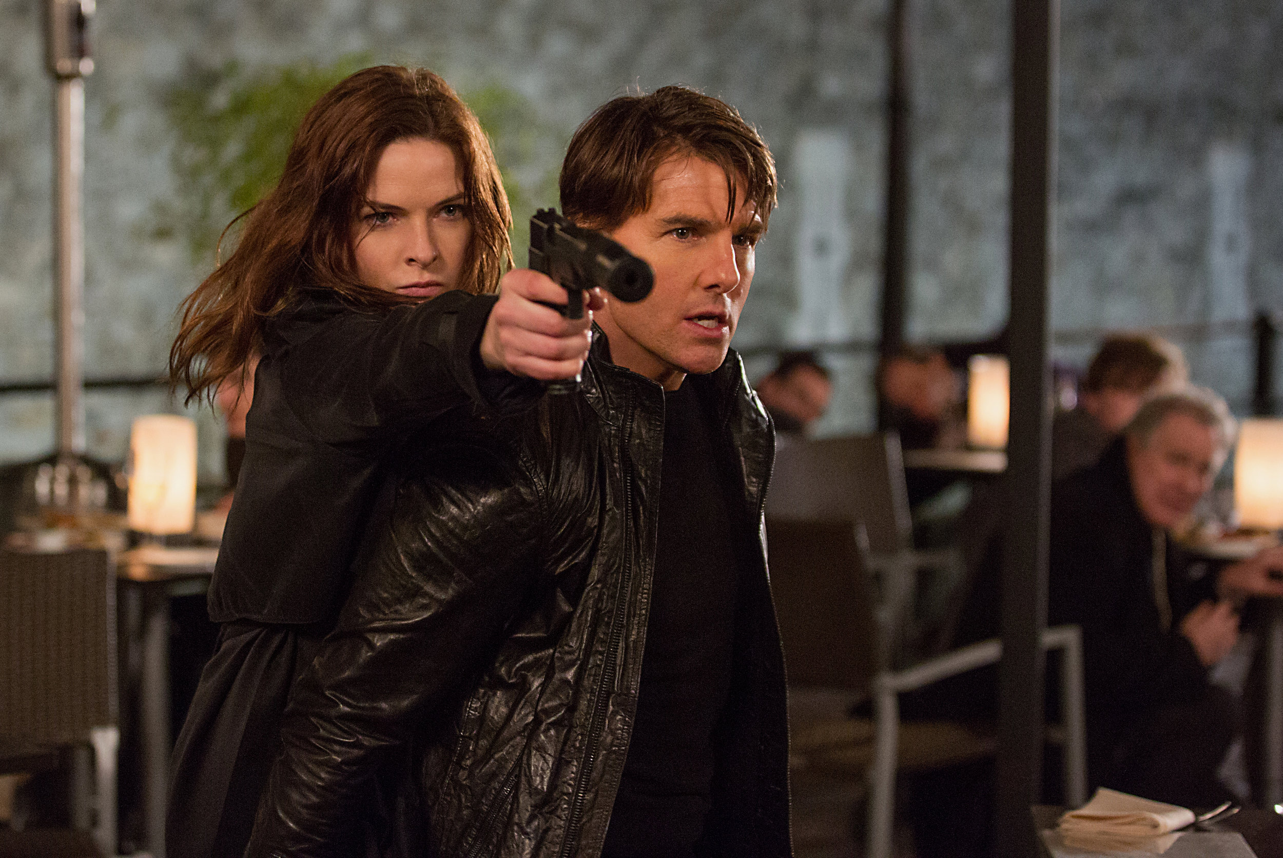 Rebecca Ferguson and Tom Cruise star in 'Mission Impossible: Rogue Nation', directed by Christopher McQuarrie.