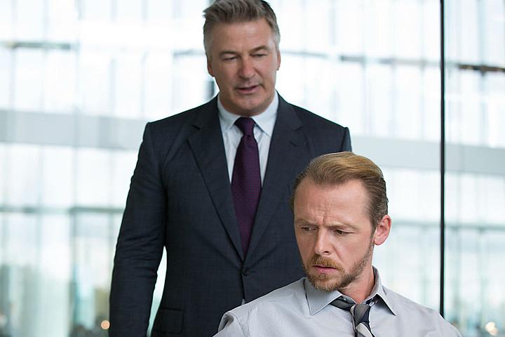 Alec Baldwin as CIA director Hunley and Simon Pegg as agent Benji Dunn.