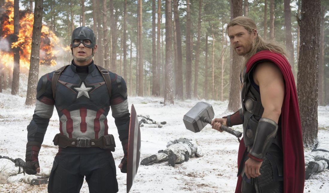 Chris Evans and Chris Hemsworth star in 'Avengers: Age of Ultron'.