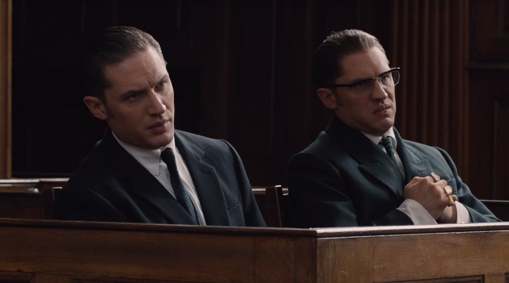 Tom Hardy gives you double the performance for the money as the infamous Kray twins in 'Legend'