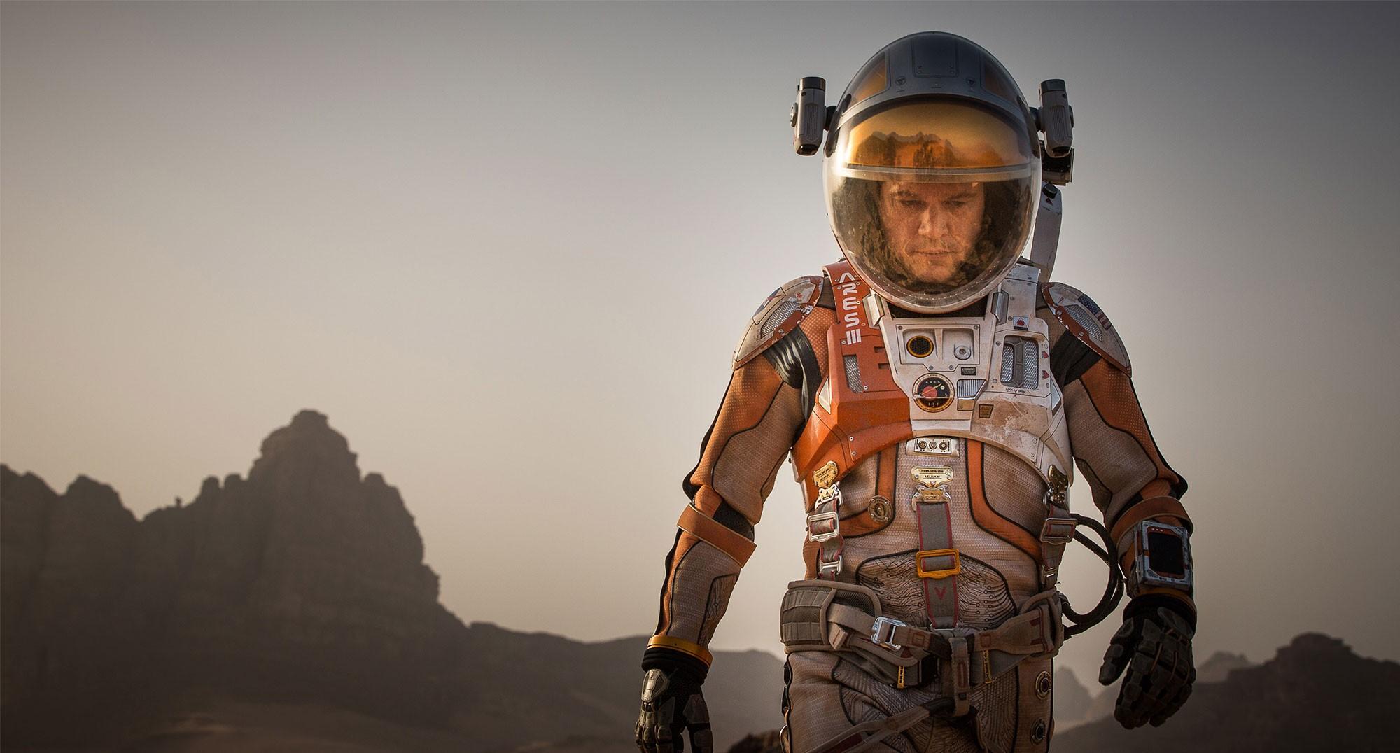 Matt Damon as stranded astronaut Mark Watney in 'The Martian'