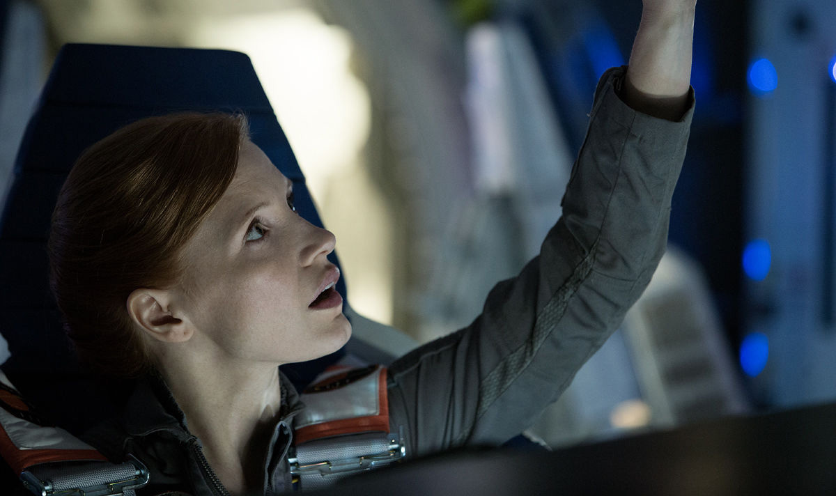 Jessica Chastain as Melissa Lewis, commander of the Ares III mission.