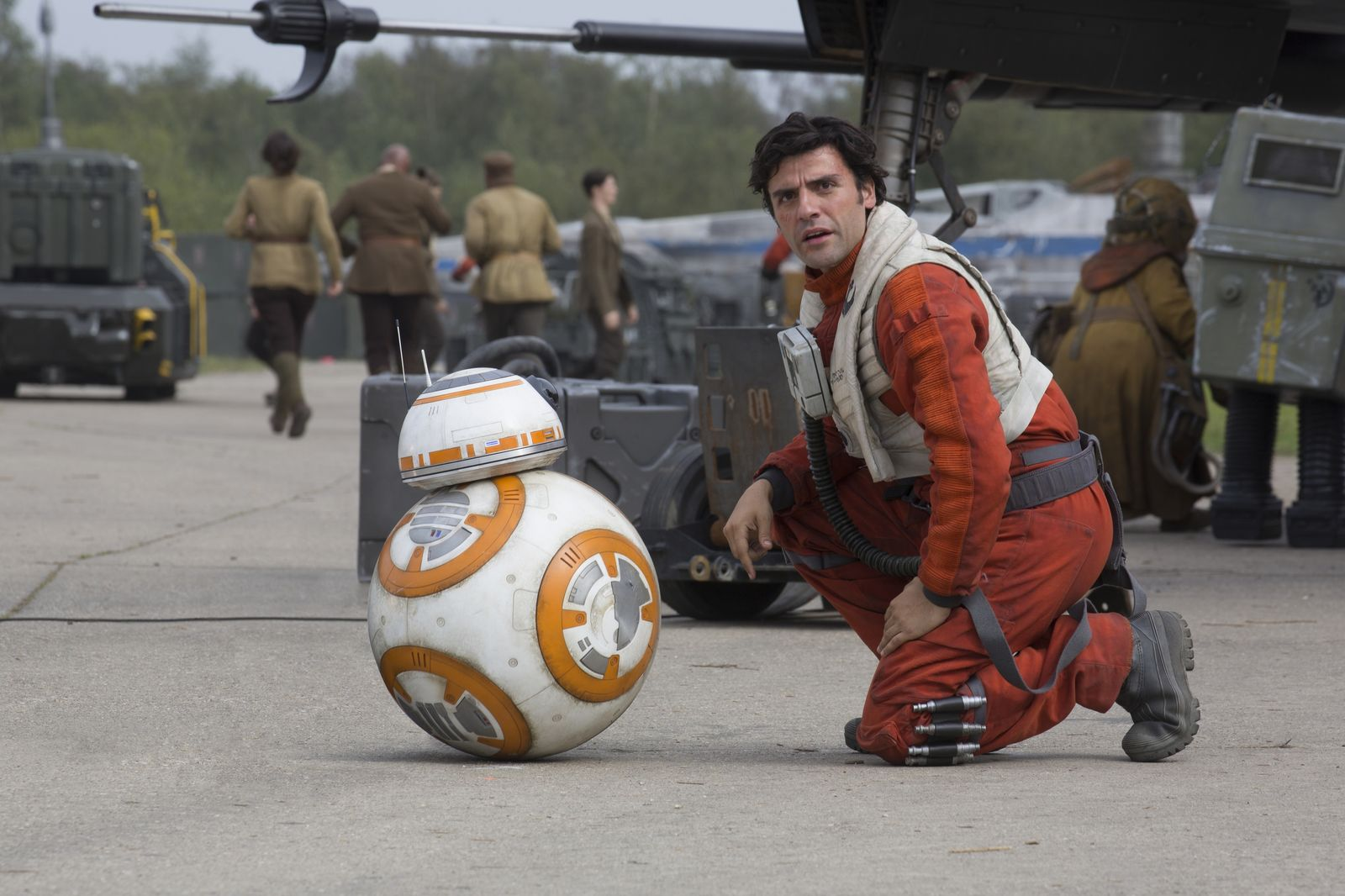 Poe Dameron (Oscar Isaac) is an ace pilot in the Resistance.