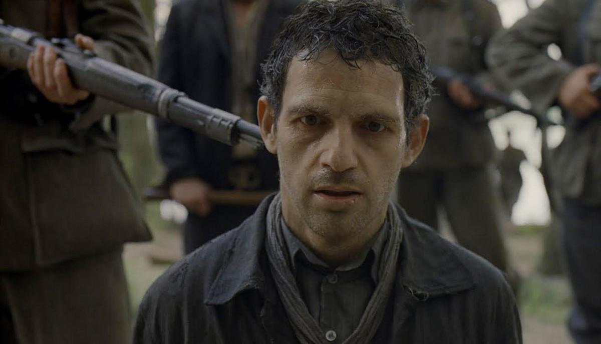 Géza Röhrig in Son of Saul, directed by László Nemes.