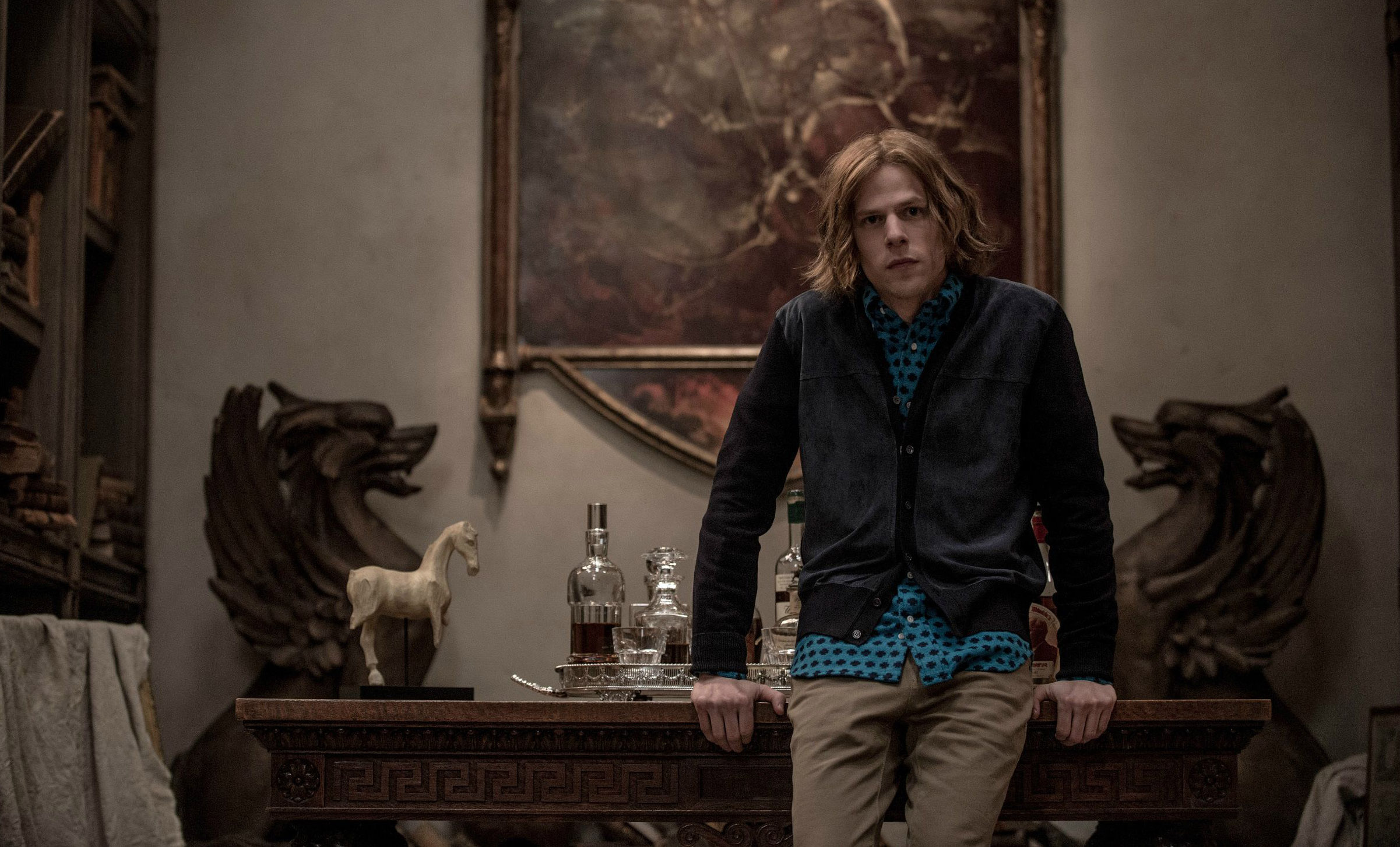 Jesse Eisenberg overstays his welcome as a poorly rendered version of Lex Luthor.