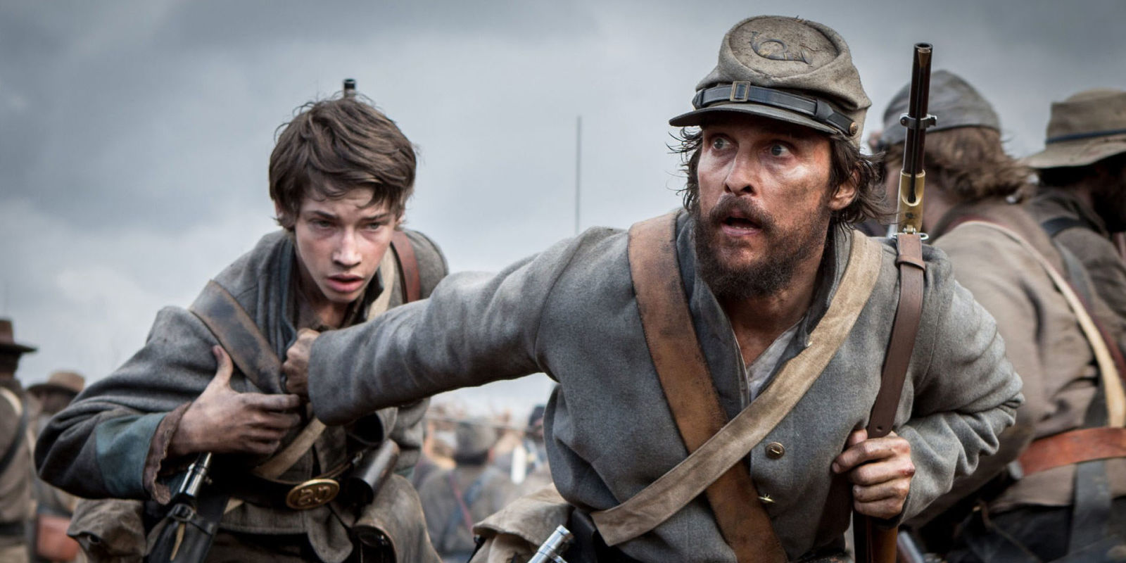Matthew McConaughey as Newton Knight in The Free State of Jones