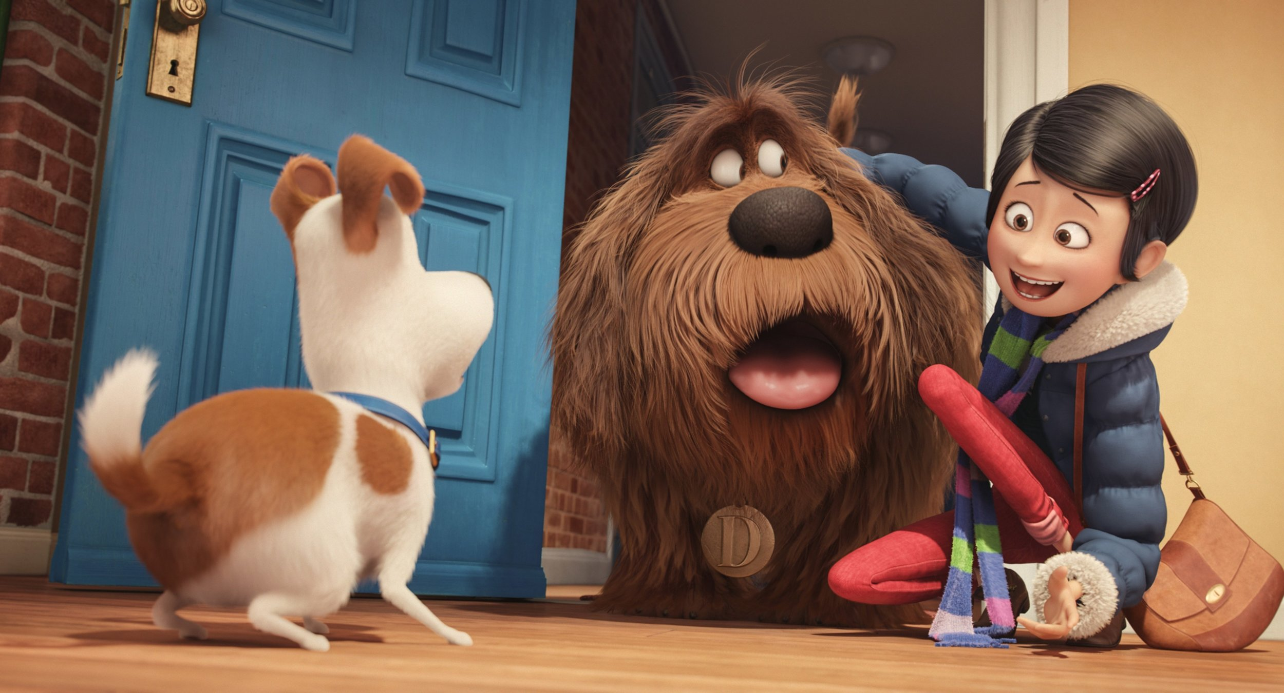 The Secret Life of Pets features the voices of Kevin Hart, Ellie Kemper, Louis C.K., and others.