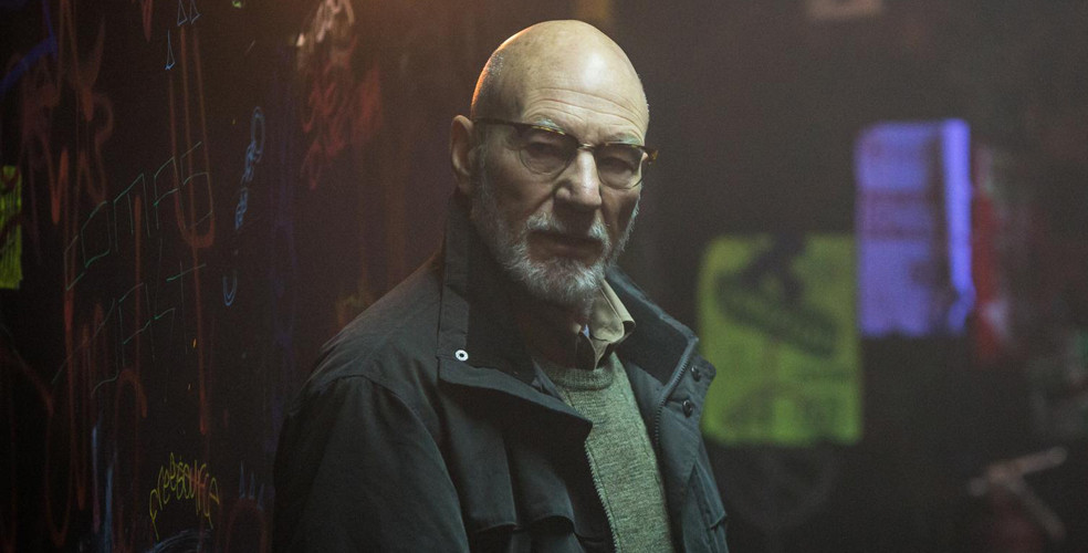 Patrick Stewart makes an unexpected appearance as Darcy, leader of the neo-Nazi gang.