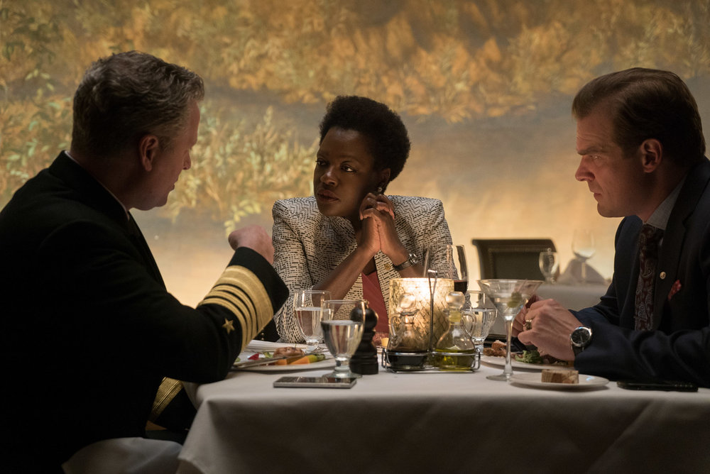 Viola Davis as Amanda Waller, the government operative who assembles the Squad.