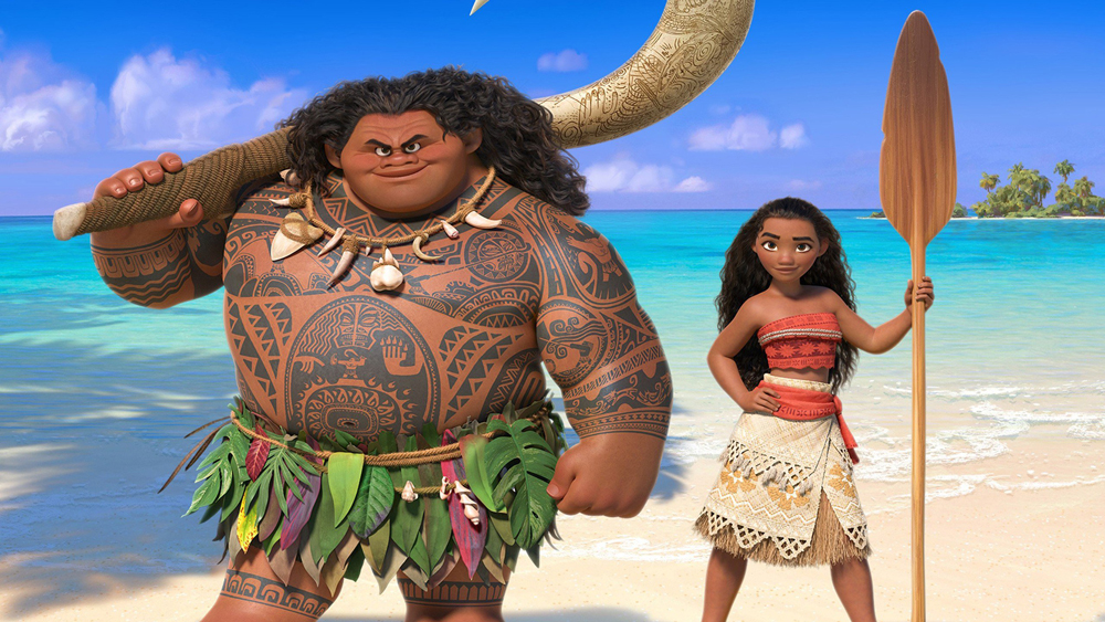 Dwayne Johnson and Auli'i Cravalho voice the leads in 'Moana'.