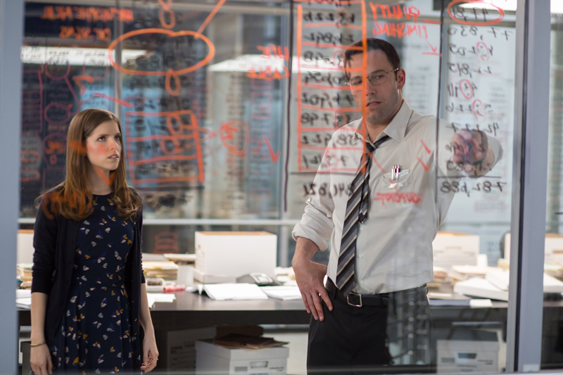 Anna Kendrick and Ben Affleck as Dana and Christian, who team up to unravel a financial conundrum.