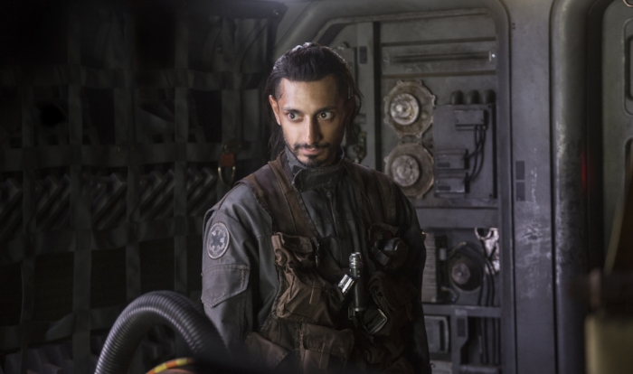 Bodhi Rook (Riz Ahmed) is the Imperial defector with some crucial information for the Rebels.