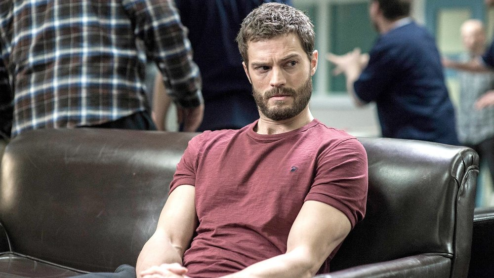 "Jamie Dornan as Paul Spector, the ""Belfast Strangler""."