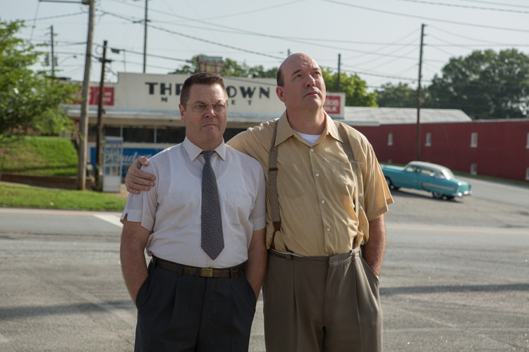 Nick Offerman and John Carroll Lynch as Dick and Mac McDonald.