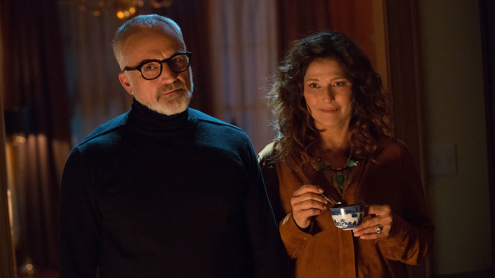 Bradley Whitford and Catherine Keener as Rose's parents.