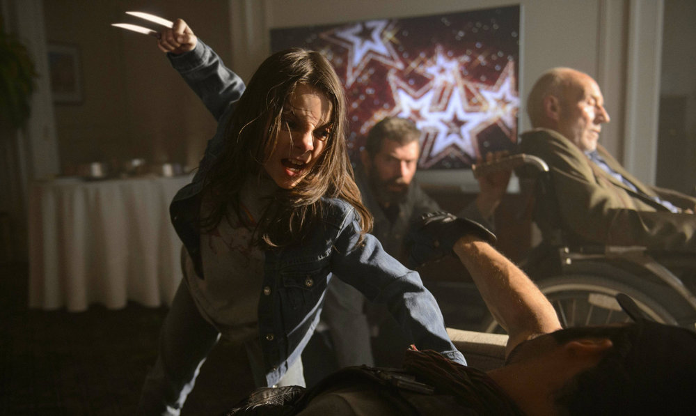 Dafne Keen as Laura, also known as X-23.