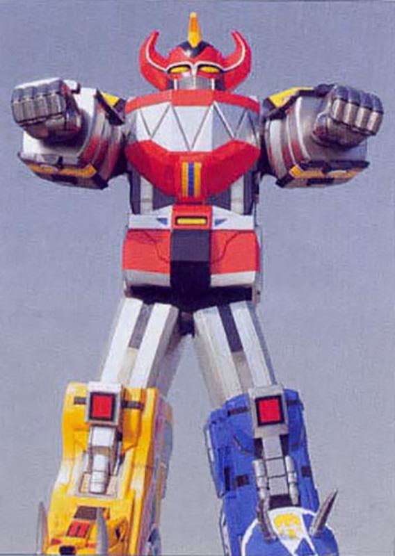 Shinka Gattai Daizyuzin, known in the American version as the Megazord.