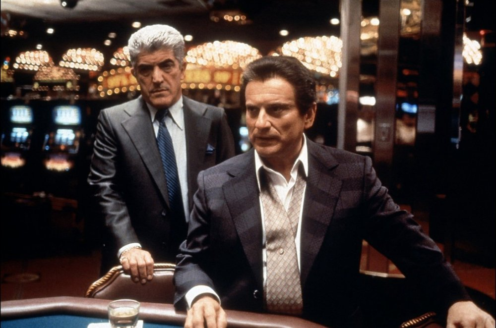 Joe Pesci (right) as Nicky Santoro and Frank Vincent (left) as Frank Marino.