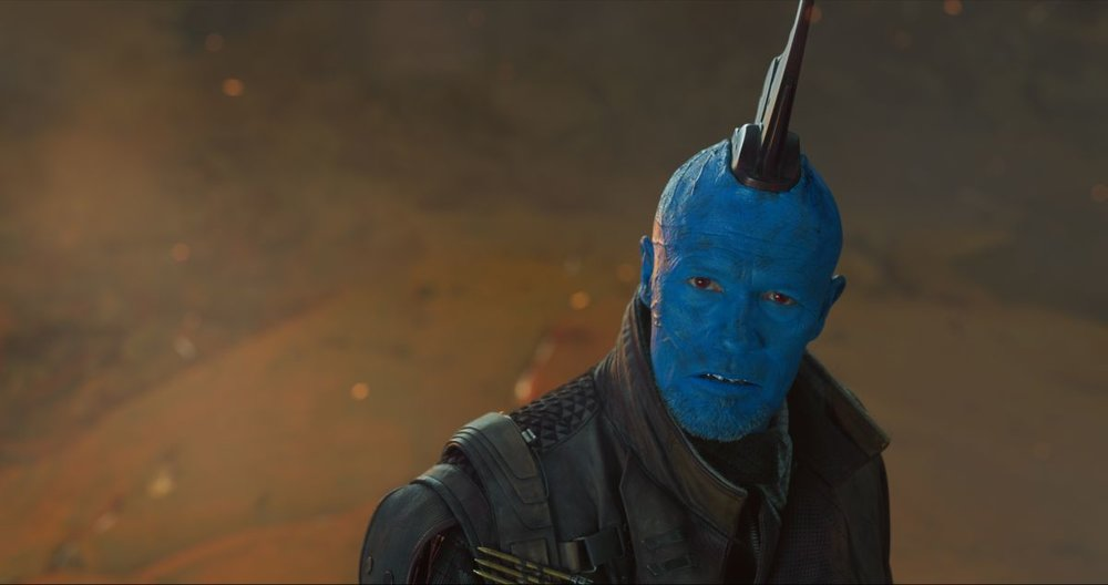 Yondu (Michael Rooker) gets an expanded role in the sequel.