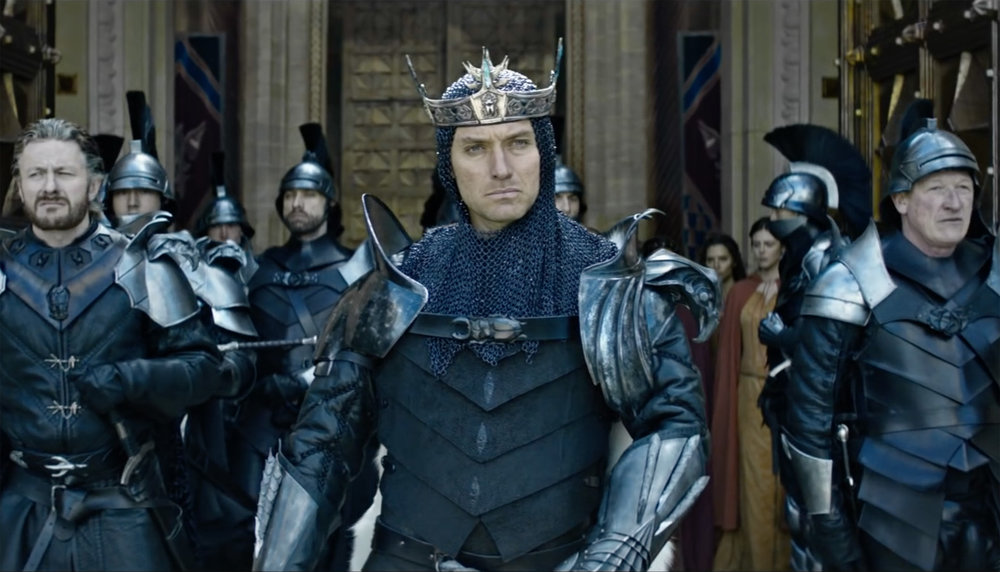 Jude Law as the evil sorcerer Vortigern.