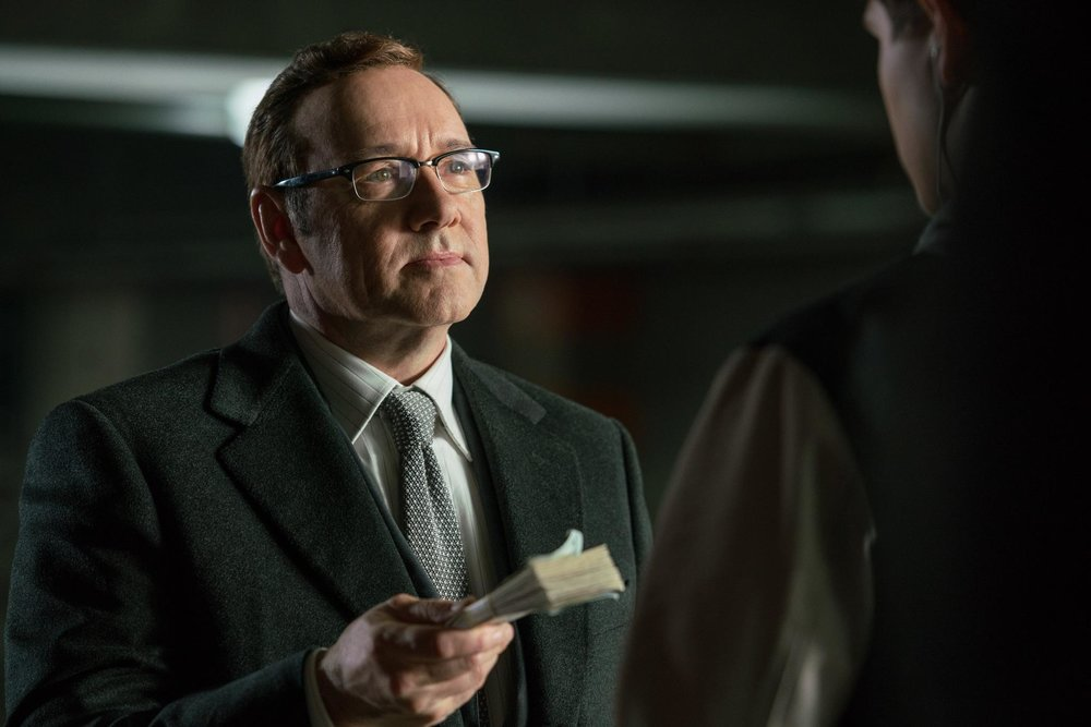 Kevin Spacey as a crime boss known as Doc.
