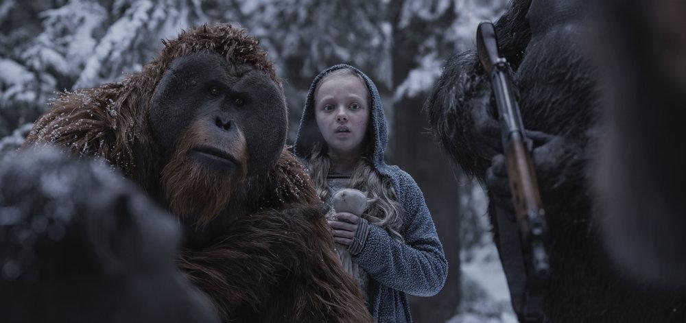 Maurice (Karin Konoval) becomes the guardian of a mute orphan named Nova (Amiah Miller).