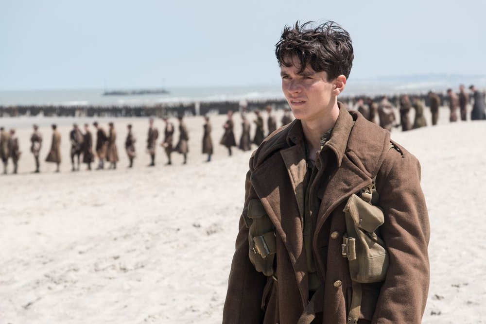 Fionn Whitehead as Tommy in  Dunkirk , directed by Christopher Nolan.