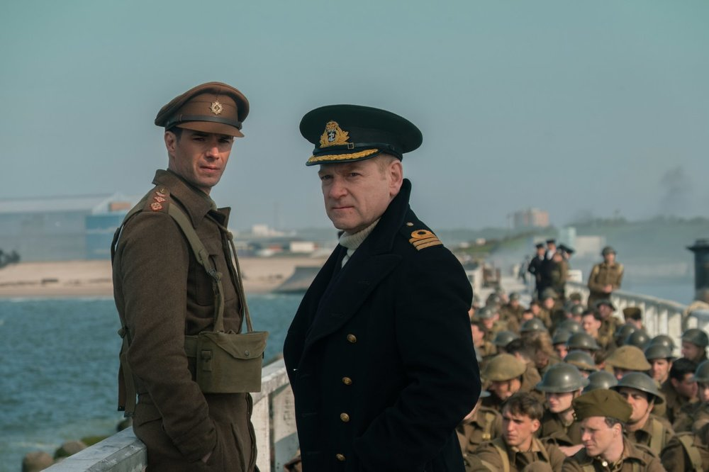 James D'Arcy and Kenneth Branagh as officers overseeing the evacuation.