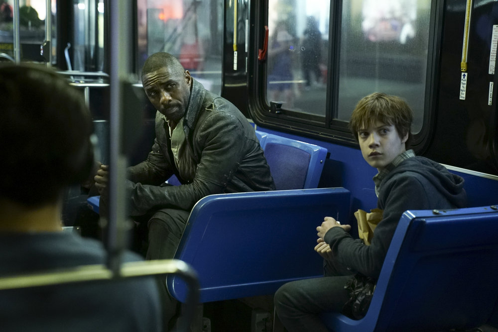 Idris Elba and Tom Taylor in  The Dark Tower , directed by Nikolaj Arcel.