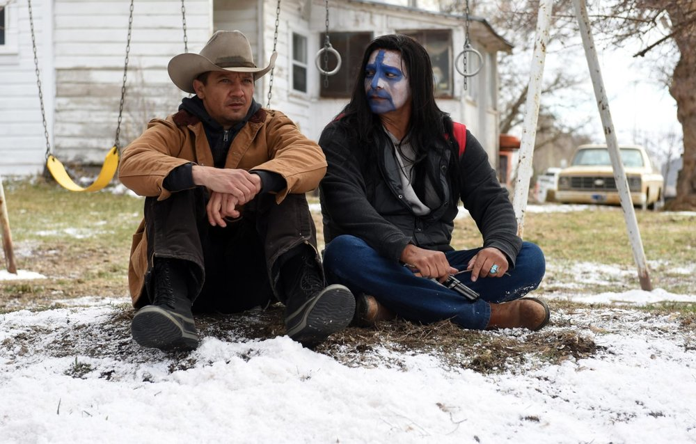 Jeremy Renner as Cory Lambert and Gil Birmingham as Martin Hanson.