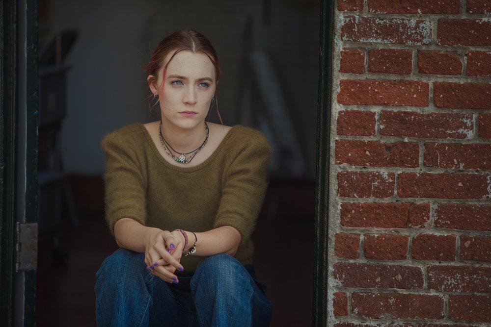 "Saoirse Ronan as Christine ""Lady Bird"" McPherson in  Lady Bird , directed by Greta Gerwig."
