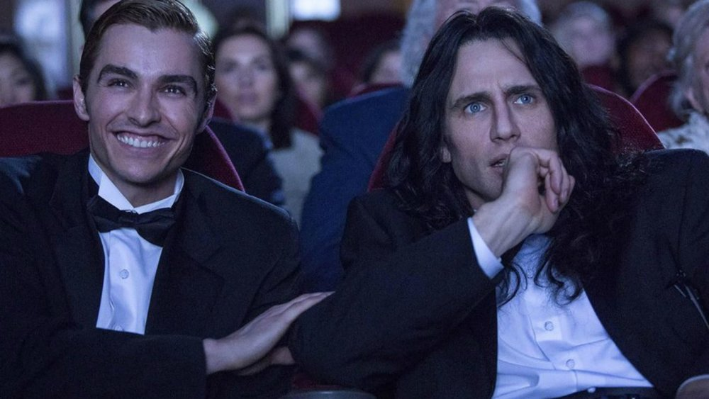 Dave Franco as Greg Sestero and James Franco as Tommy Wiseau in  The Disaster Artist .