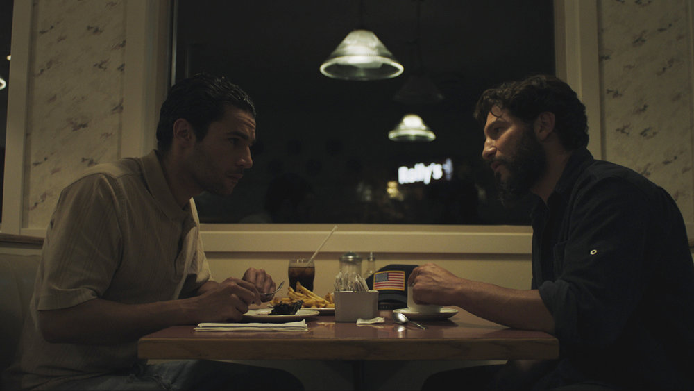 Christopher Abbott and Jon Bernthal in  Sweet Virginia , directed by Jamie M. Dagg.