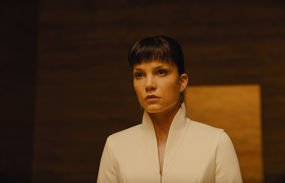 Sylvia Hoeks as Luv, the right-hand Replicant of Wallace.