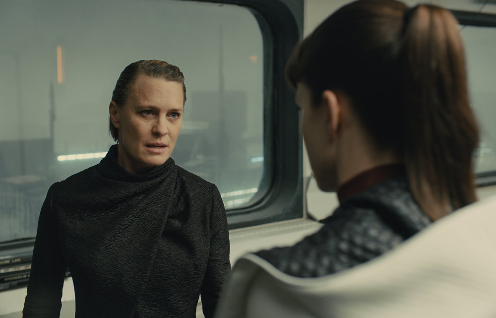 Robin Wright as K's boss, Lt. Joshi.