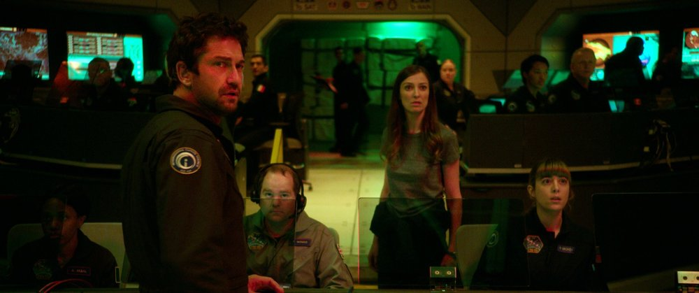 Gerard Butler stars as Jake Lawson in  Geostorm , directed by Dean Devlin.